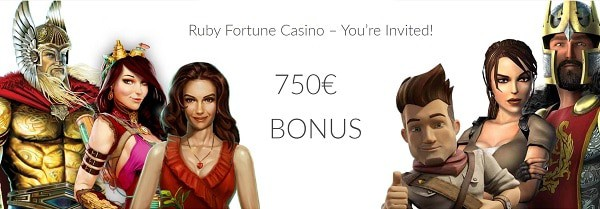 Ruby Casino welcome bonus (free cash and free spins)