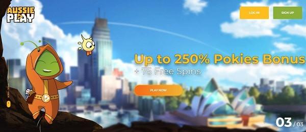 250% pokies bonus
