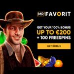 Mr Favorit Casino 100 bonus spins + 200 EUR/USD/GBP free