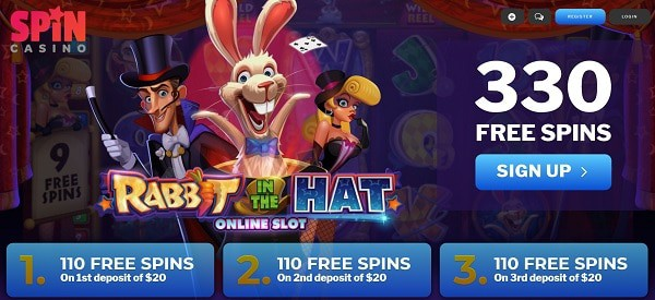 330 Free Spins + $1,000 Welcome Bonus