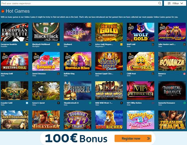 Get 100% bonus and free spins on deposit