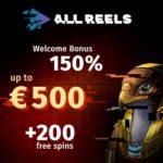 All Reels Casino 200 no deposit free spins (exclusive bonus)