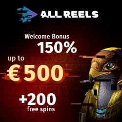 All Reels Casino banner welcome bonus 250x250 (2)
