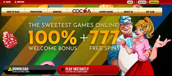 Cocoa welcome bonus