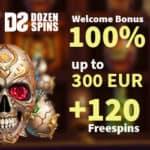 Dozen Spins Casino 120 no deposit free spins exclusive bonus