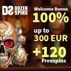 Dozen Spins Casino banner welcome bonus 250x250