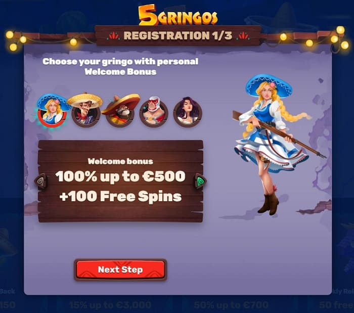 100% up to $500 and 100 free spins