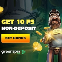 10 free spins on Gonzos Quest at Green Spin Casino