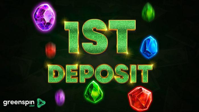1st deposit bonus at Green Spin Bet