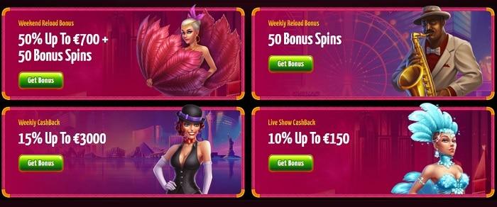 Reload Bonus and Promo Online