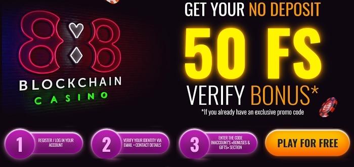 50 free spins bonus on verification
