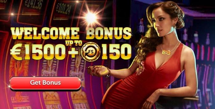 Deposit Bonus: 1500 EUR and 150 free spins!