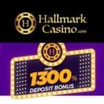 Hallmark Casino $300 no depsit free ship + 1300% free bonus