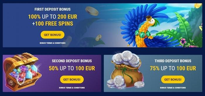 1st, 2nd, 3rd, and 4th deposit bonus