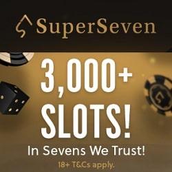 SuperSeven Casino new banner bonus 250x250